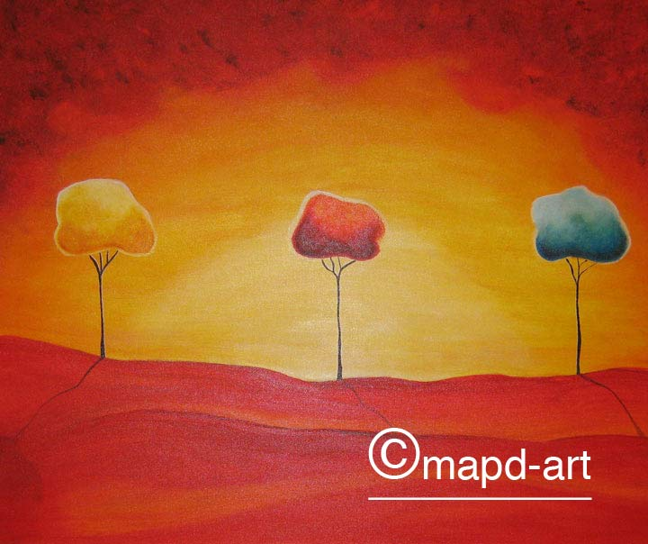 Farbe gemaltes Bild